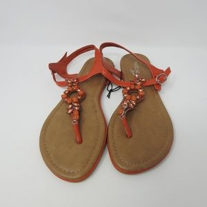 Madeline Stuart Jeweled Sandals NWOT
